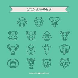 Animali selvatici icon pack