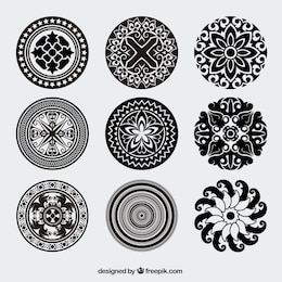 Annata ornamenti arrotondati vector pack
