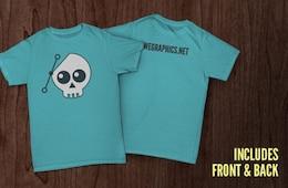 Anteriore e posteriore modello di t-shirt