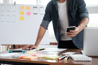 Applicazione di pianificazione del progettista di fotoricettore per il telefono mobile