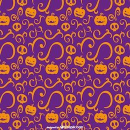 Arancione e viola modello halloween
