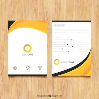 Astratto modello di brochure