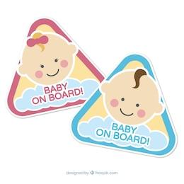 Baby on segni di bordo