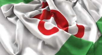 Bandiera dell'Inghilterra Ruffled Beautifully Waving Macro Close-Up Shot