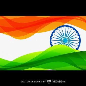 Bandiera indiana in stile onda