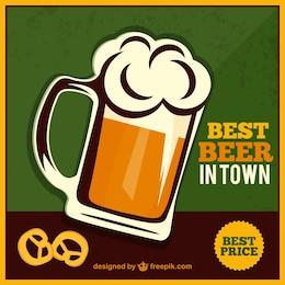 Barattolo di birra vettoriali gratis