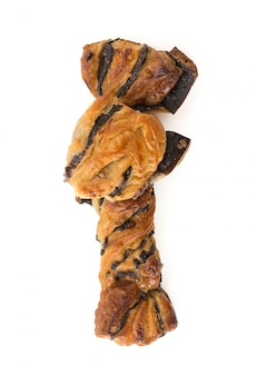 Bastone di pane con cioccolato