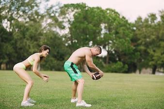 Bella coppia sportiva