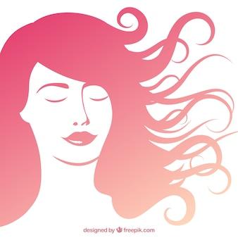 Bella donna con i capelli lunghi