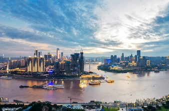 Bellissimo paesaggio cittadino, a Chongqing, in Cina