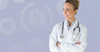 Bianco bel medico sanitario