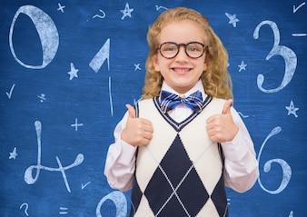 Blu divide la matematica di formazione disegnata a mano