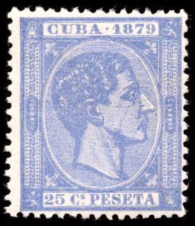 Blu re Alfonso XII timbro