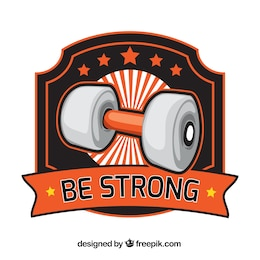 Bodybuilding logo vettoriale
