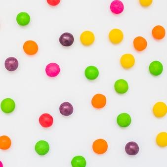 Bottoni colorati di caramelle