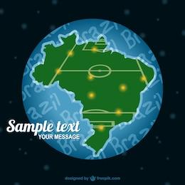 Brasile mappa del campo di calcio vettore