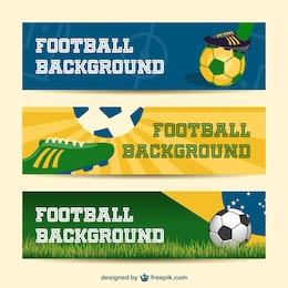 Brazil bandiere vettoriali collezione 2014 evento di calcio