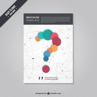 Brochure con un punto interrogativo