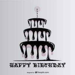 Buon compleanno con la torta stillicidio