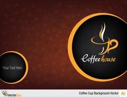 Caffè tazza sfondo del menu