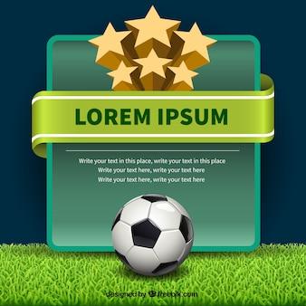 Calcio modello di etichetta