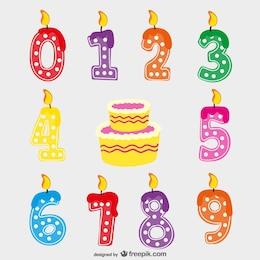 Candele di compleanno vettoriale