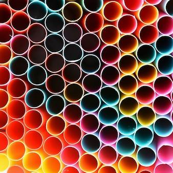 Cannucce da bere. Macro immagine astratta con bello sfondo multicolore.