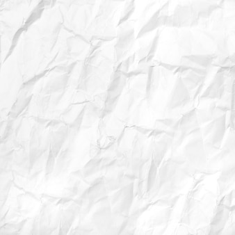 Carta bianca stropicciata