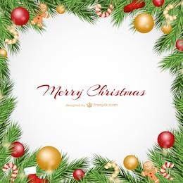 Cartolina di Natale con palline