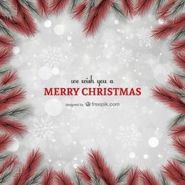 Cartolina di Natale con telaio