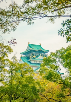 Castello di Osaka a Osaka in Giappone