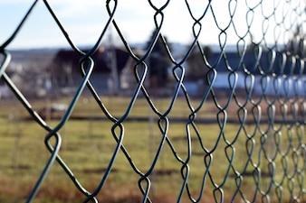 Catena di recinzione vicino