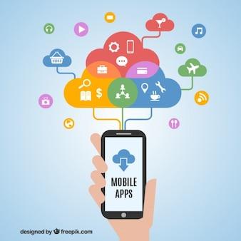 Cellulare concetto applicazioni del telefono