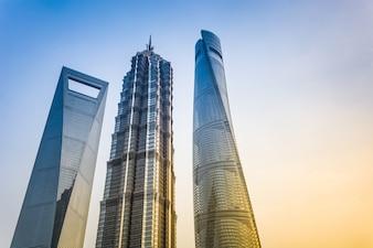 Centro di lavoro della città torre di business