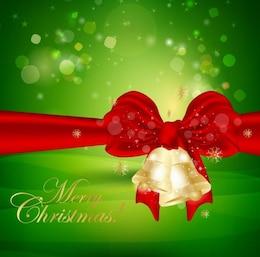 christmas background con campane di Natale