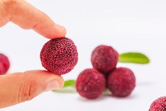 Cibo yang delizioso drupe rosso