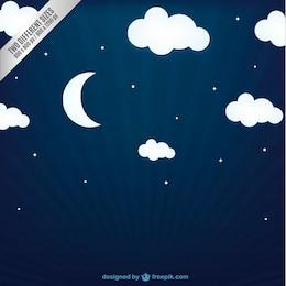 Cielo notturno di sfondo