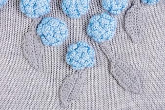 Close up vista di abiti a maglia