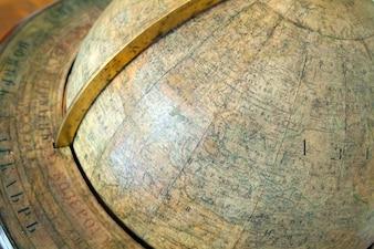 Closeup del globo d'epoca