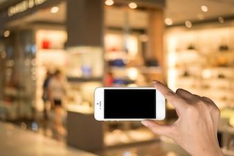 Collegamento touchscreen digitale dello schermo di vendita al dettaglio