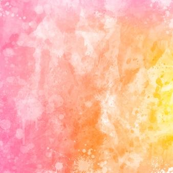 Colore dell'acqua Colore rosa e sfondo giallo