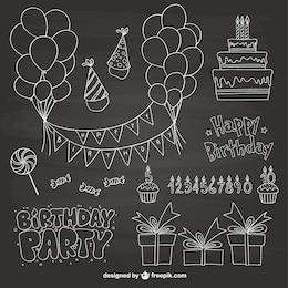 Compleanno scarabocchi partito