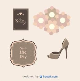 Confezione di oggetti di nozze