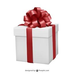 Confezione regalo con nastro rosso