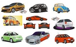 confronto tra il nuovo materiale vettura vettore