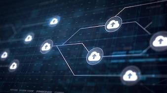Connessione a nube della rete Cloud Collegamento della scheda di circuito