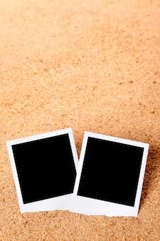 Cornici istantanee in sabbia