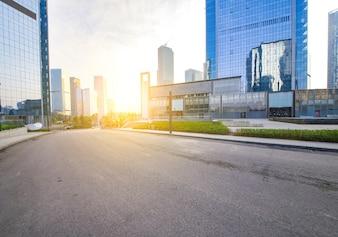 Crepuscolo riflessione molo di architettura urbana