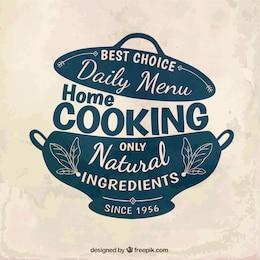 Cucina casalinga distintivo