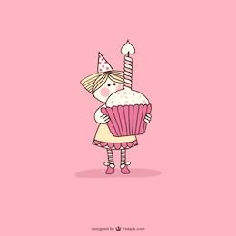 Cupcake compleanno del fumetto